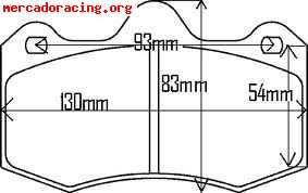 Pastillas para pinzas AP Racing 6600 (Ibiza Cupra, Leon Cupr