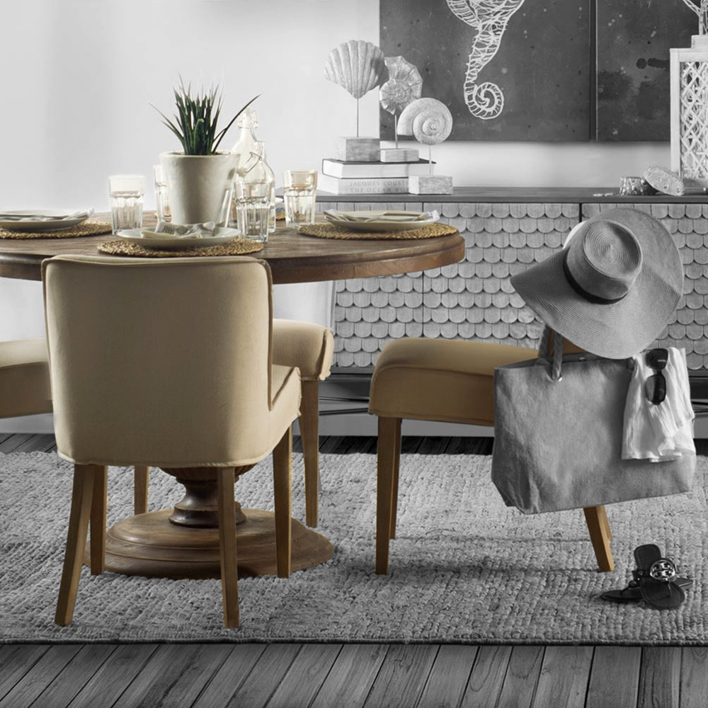 Pedestal Style Dining Table