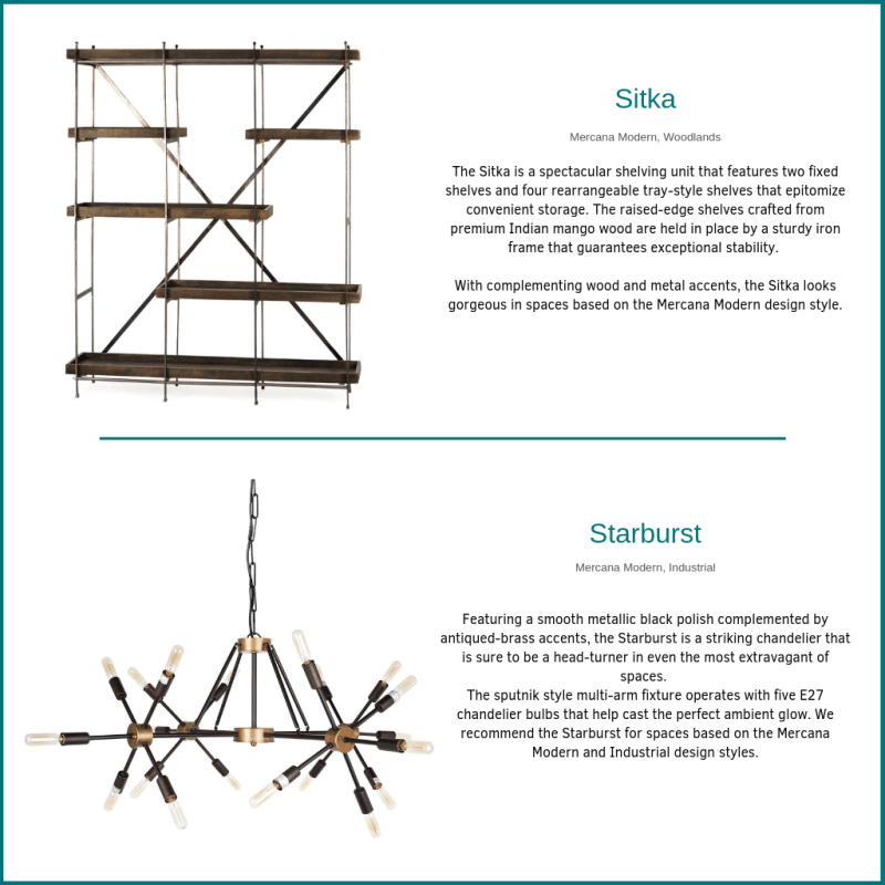 The Sitka Shelf and Starburst Chandelier