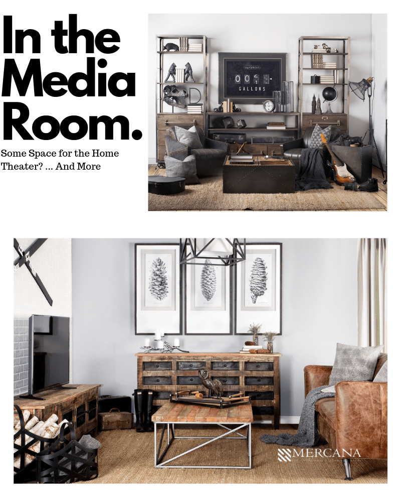 Sideboards in the Media Room