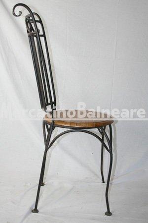 Sedia in ferro battuto e seduta in legno di sheesham mercatino balneare - Nido api finestra ...