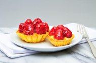 Fresh Raspberry Tart with Custard