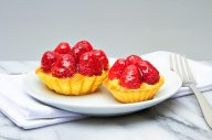 Fresh Raspberry Tart with Custard