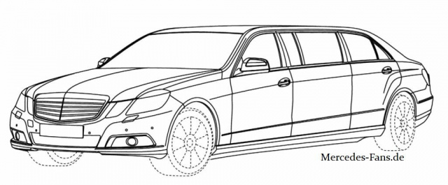 Durchgesickert: Mercedes E-Klasse Pullman: Mercedes Bilder