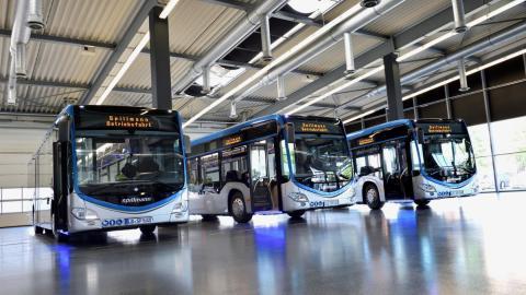 Außergewöhnliches Design für fünf Mercedes-Benz Citaro beim Omnibusverkehr Spillmann