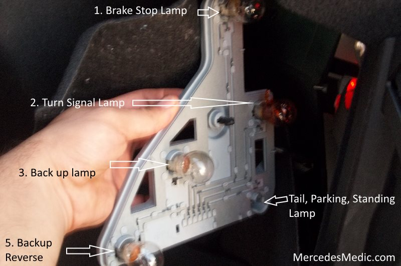 turn signal wiring diagrams freightliner headlight diagram how to replace signal, stop lamp on 2001-2007 c class