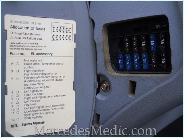 1998 Mercedes C320 Fuse Box Diagram