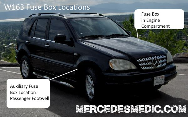 2001 mercedes benz ml320 fuse box  wiring diagrams database