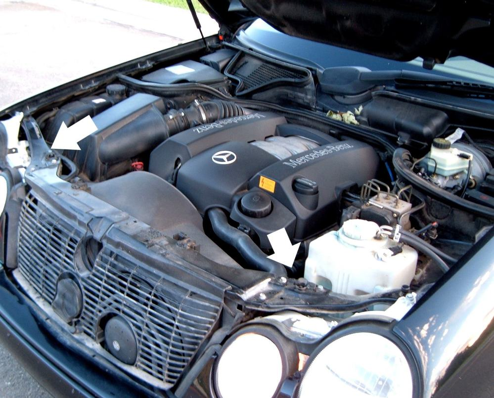 medium resolution of how to replace upgrade headlight bulbs on 1996 2002 mercedes benz e class w210 mb medic