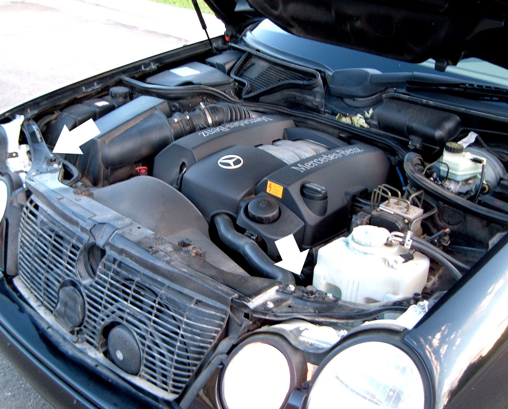 hight resolution of how to replace upgrade headlight bulbs on 1996 2002 mercedes benz e class w210 mb medic