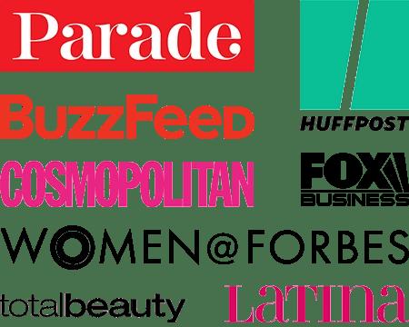 Logos of media companies Mercedes Sanchez has published content