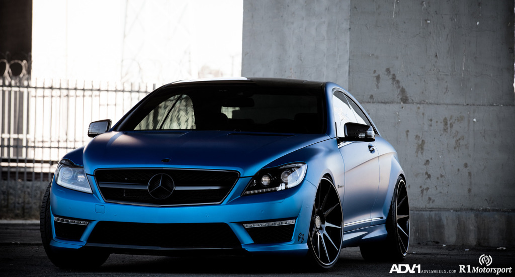 Mercedes Benz Cl63 Amg On Adv1 Wheels And Matte Blue