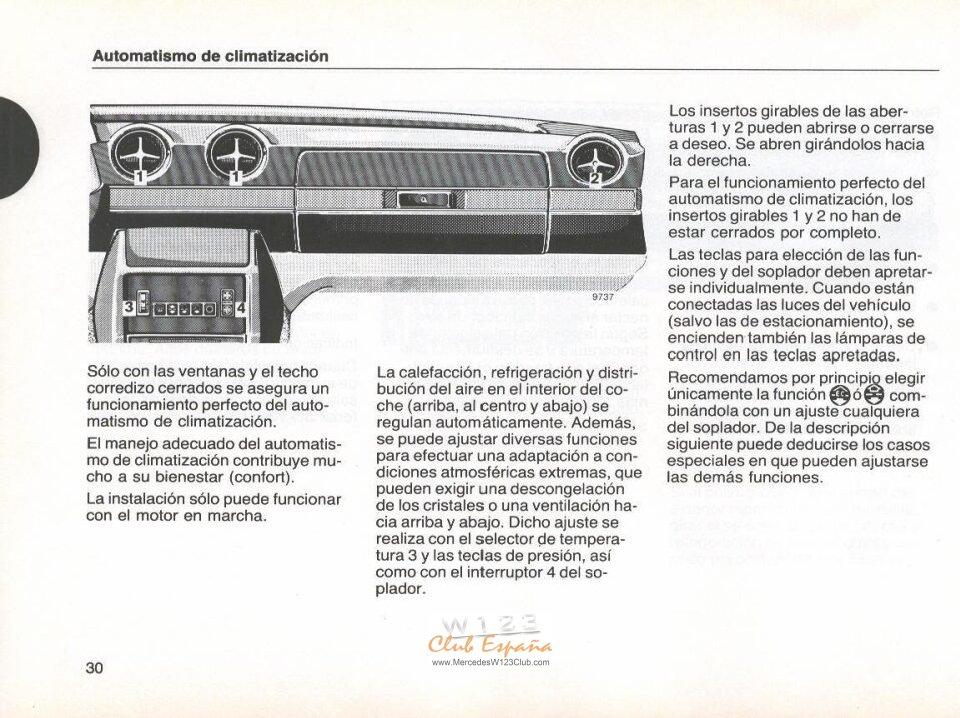 MANUAL W123 200-230E-230CE-250 3ºserie ESPAÑOL