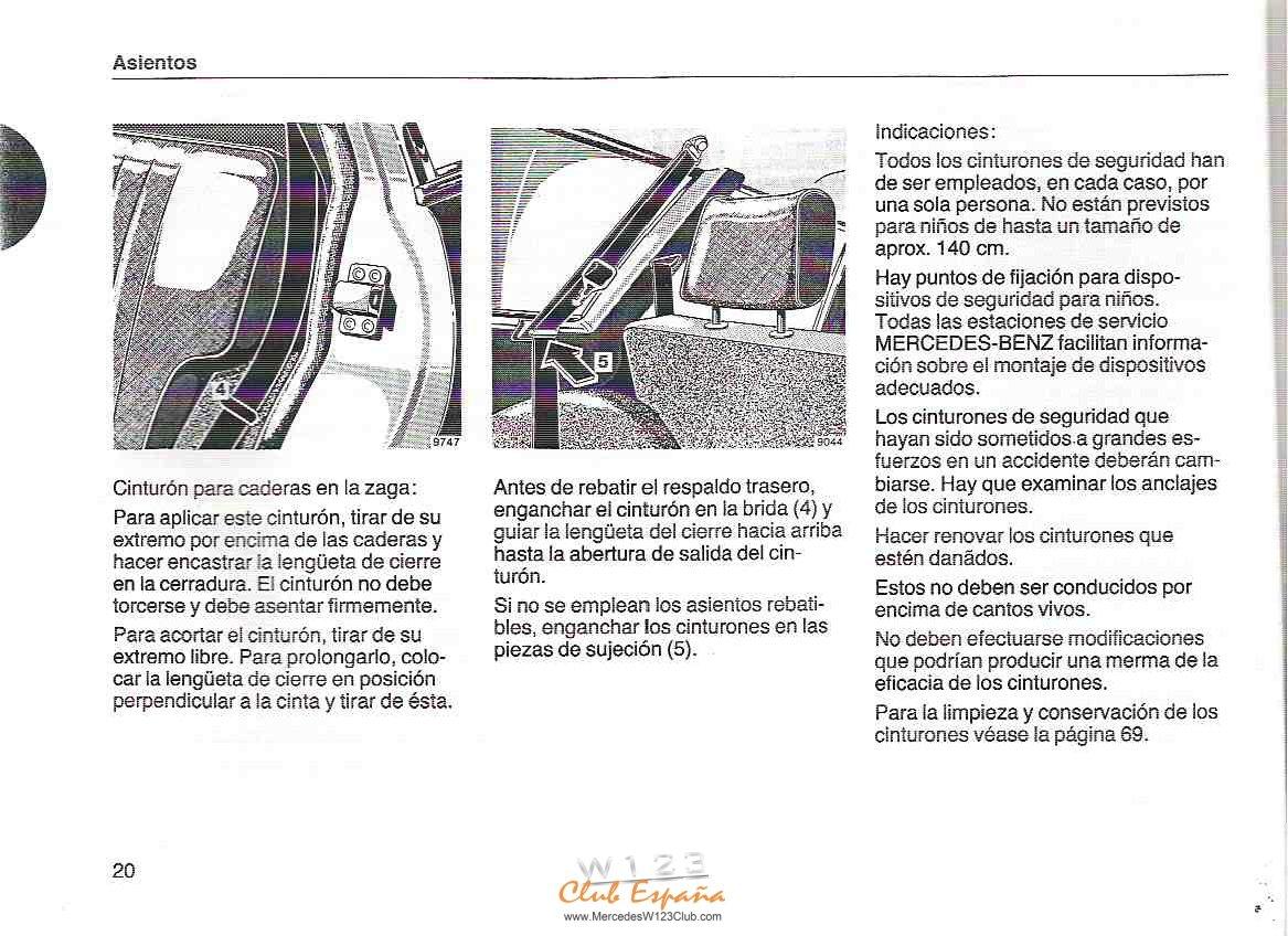 MANUAL W123 Modelo T 2ºserie ESPAÑOL