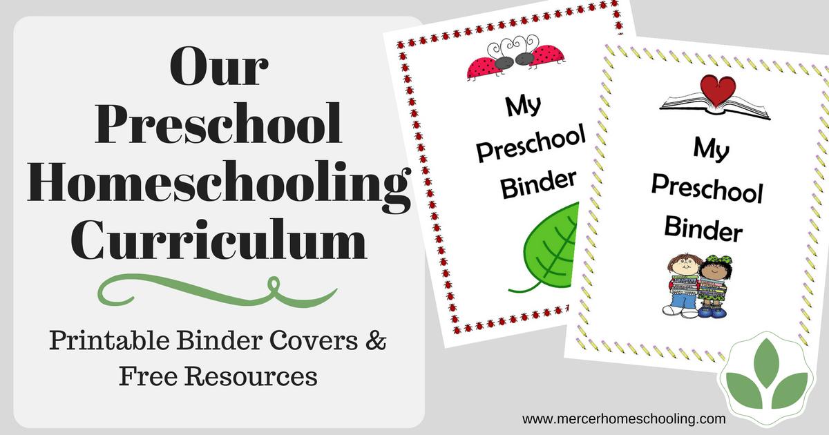 Our Preschool Homeschooling Curriculum | Mercer Homeschooling