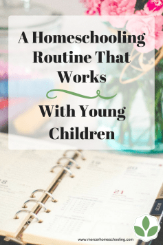 A Homeschool Routine for Young Children
