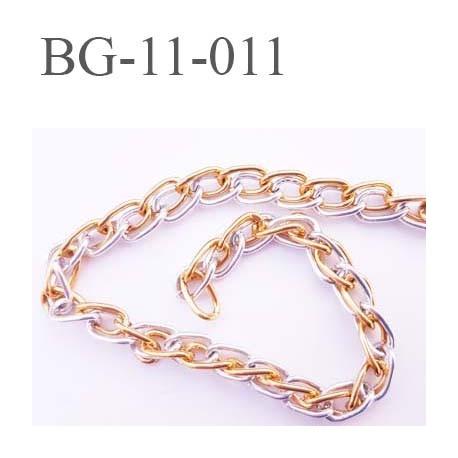 chaine chainette en metal aluminium largeur 6 mm pour soutien gorge couleur argent et or prix au metre
