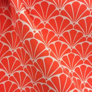 toile exterieur loko coquillage orange x10cm