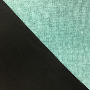 tissu rideau velours polaire occultant vert d eau