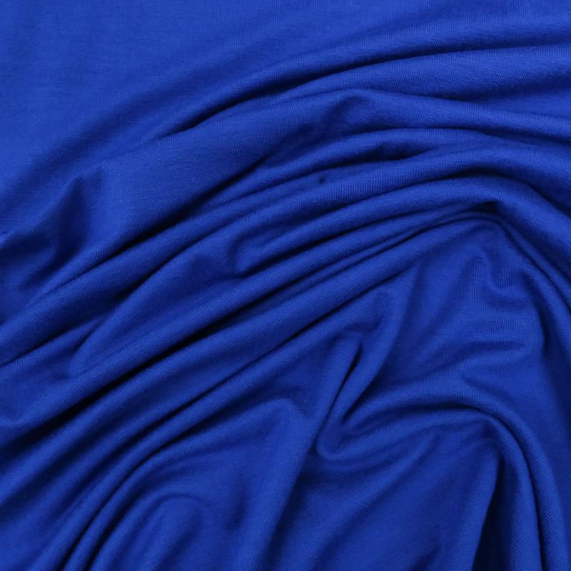 jersey bleu roi tissu jersey viscose mercerine