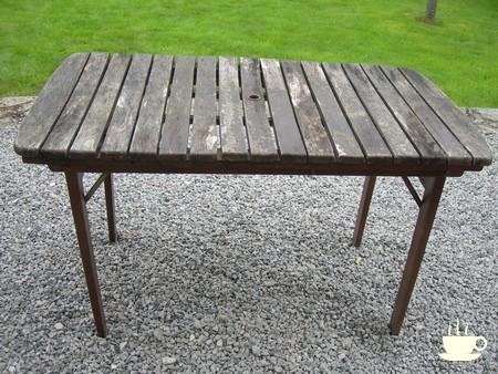 renovation table de jardin en bois