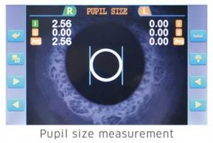 Pupil size measurement function