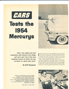 Cars Tests the 1954 Mercurys Pg 1