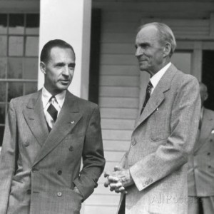 Son & Father, Edsel & Henry Ford Sr.
