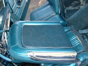 Note S-55 seat backs are carpeted