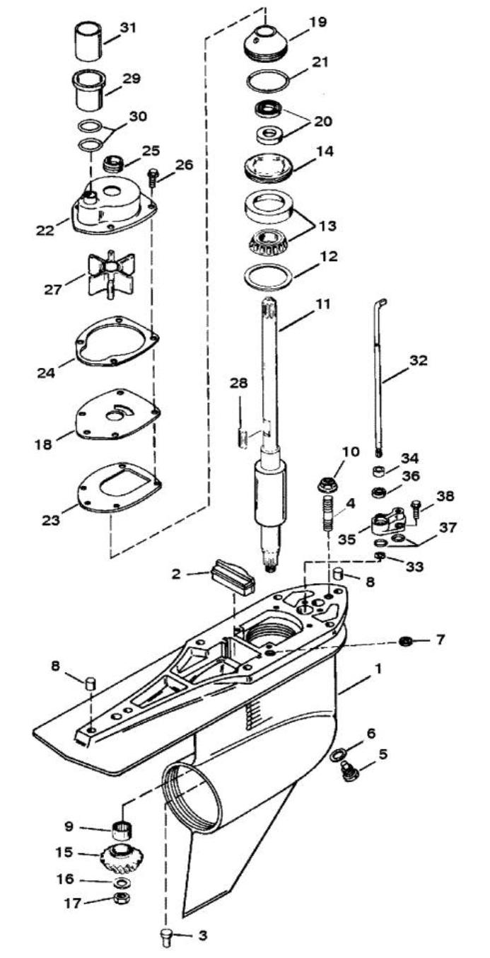 Alpha One Sterndrive Parts Diagram Pictures to Pin on