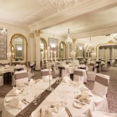 Wedding Chair Cover Hire Brighton Paula Deen Chairs Seafront Venue Mercure Hotel The Ballroom At Arranged For A Breakfast Grey And Silver