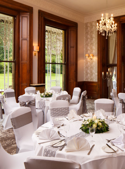 wedding chair covers burton on trent metal folding beautiful staffordshire venue mercure upon the william morris suite at newton park hotel set up for