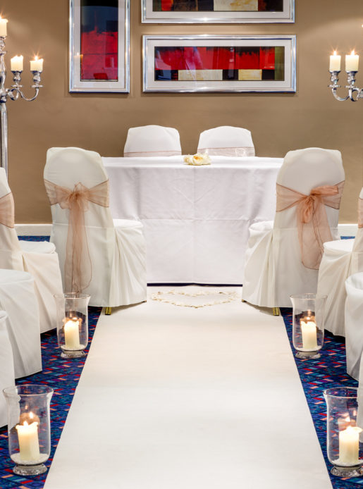 wedding chair covers burton on trent where to buy kitchen chairs great venues west yorkshire mercure wetherby hotel the wharfedale suite at set up for a ceremony white