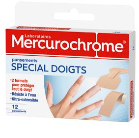 Pansements spcial doigts  Mercurochrome