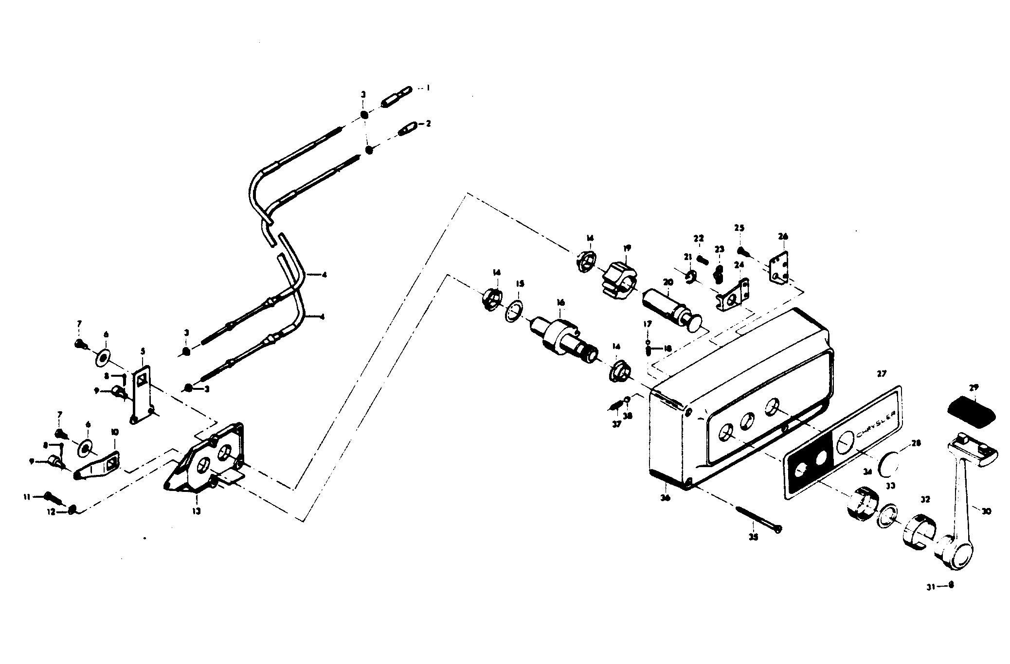 Каталог запчастей CHRYSLER 45 (1974) 468BB — Запасные