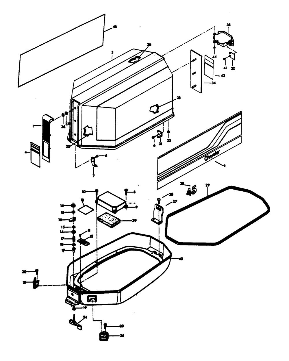 medium resolution of  chrysler 45 1979 457b9k diagram of 45 1979 mercury chrysler outboard 459h9h alternator and