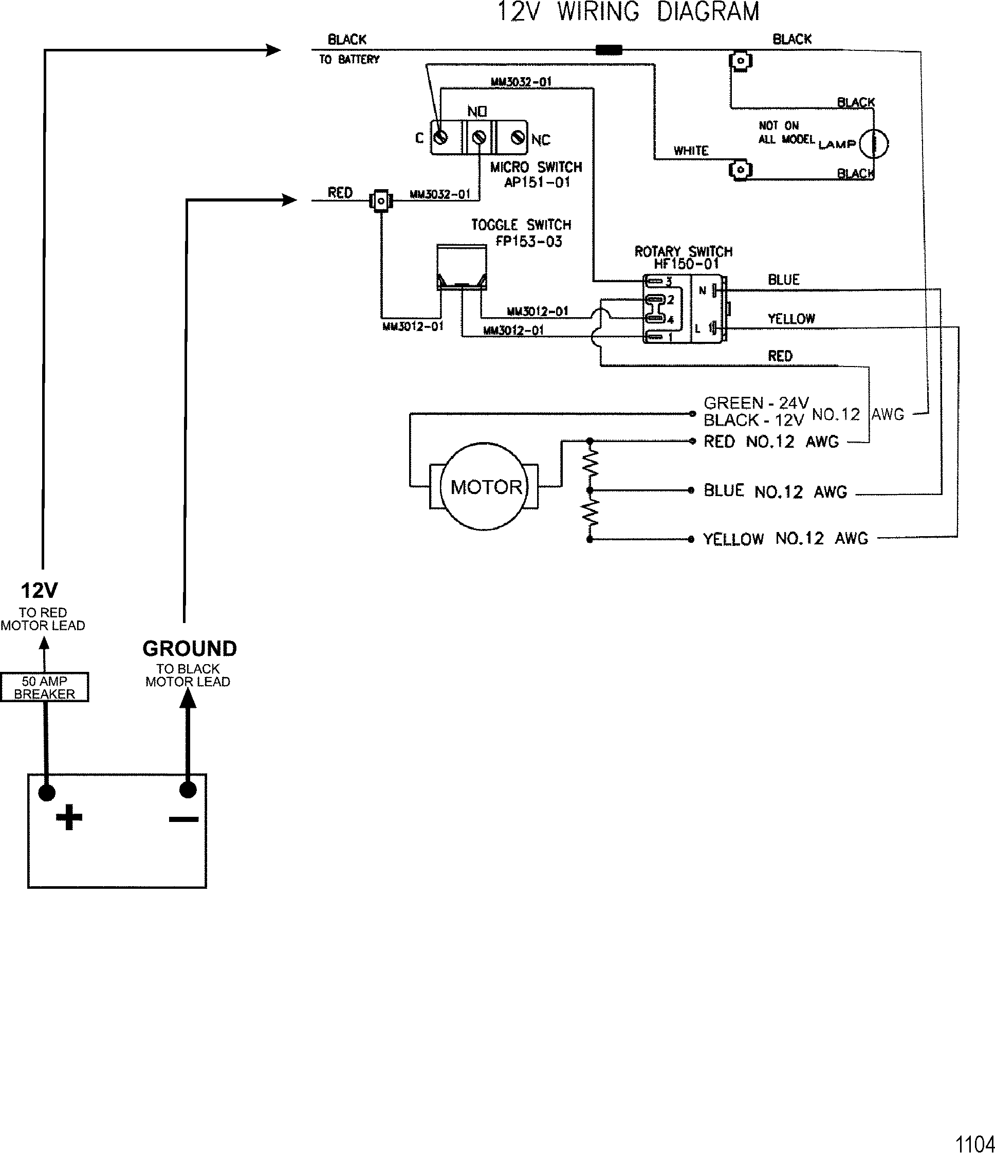 hight resolution of wire diagram model 743 12 volt trolling motor motorguide