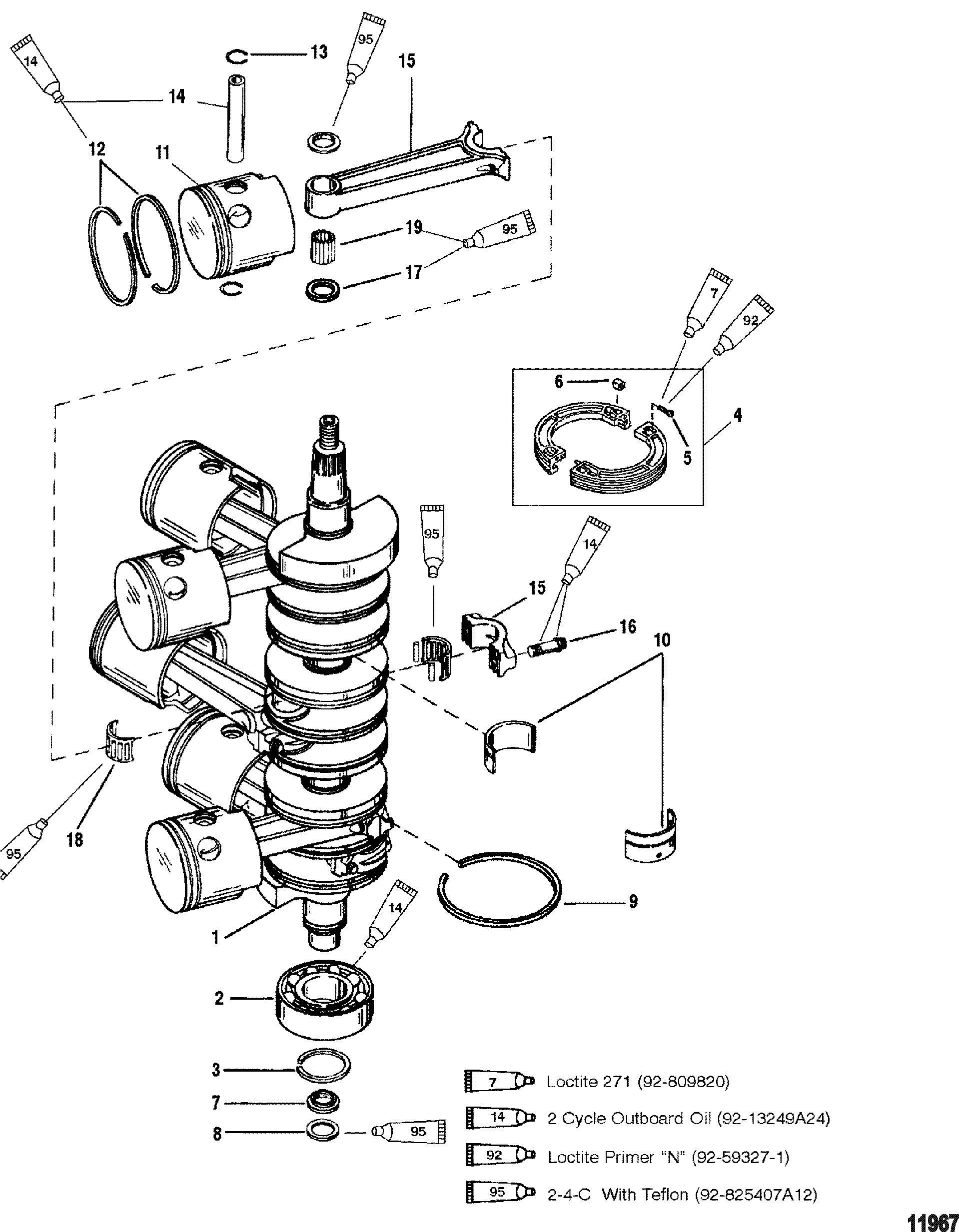 Каталог запчастей MARINER MAGNUM III 0G303046 THRU