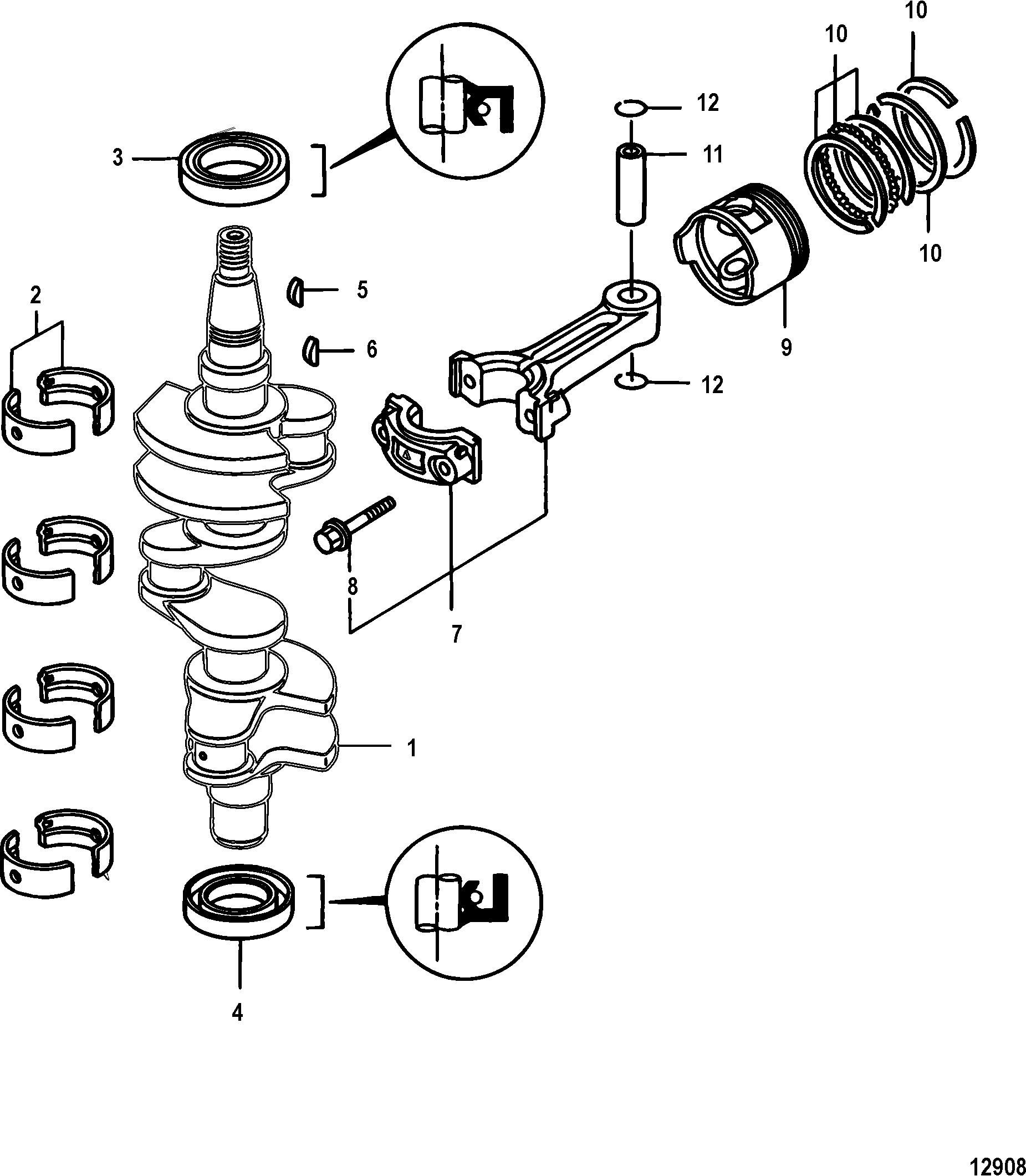 Каталог запчастей MERCURY 4-х тактные 25 EFI (3 CYL.)(4
