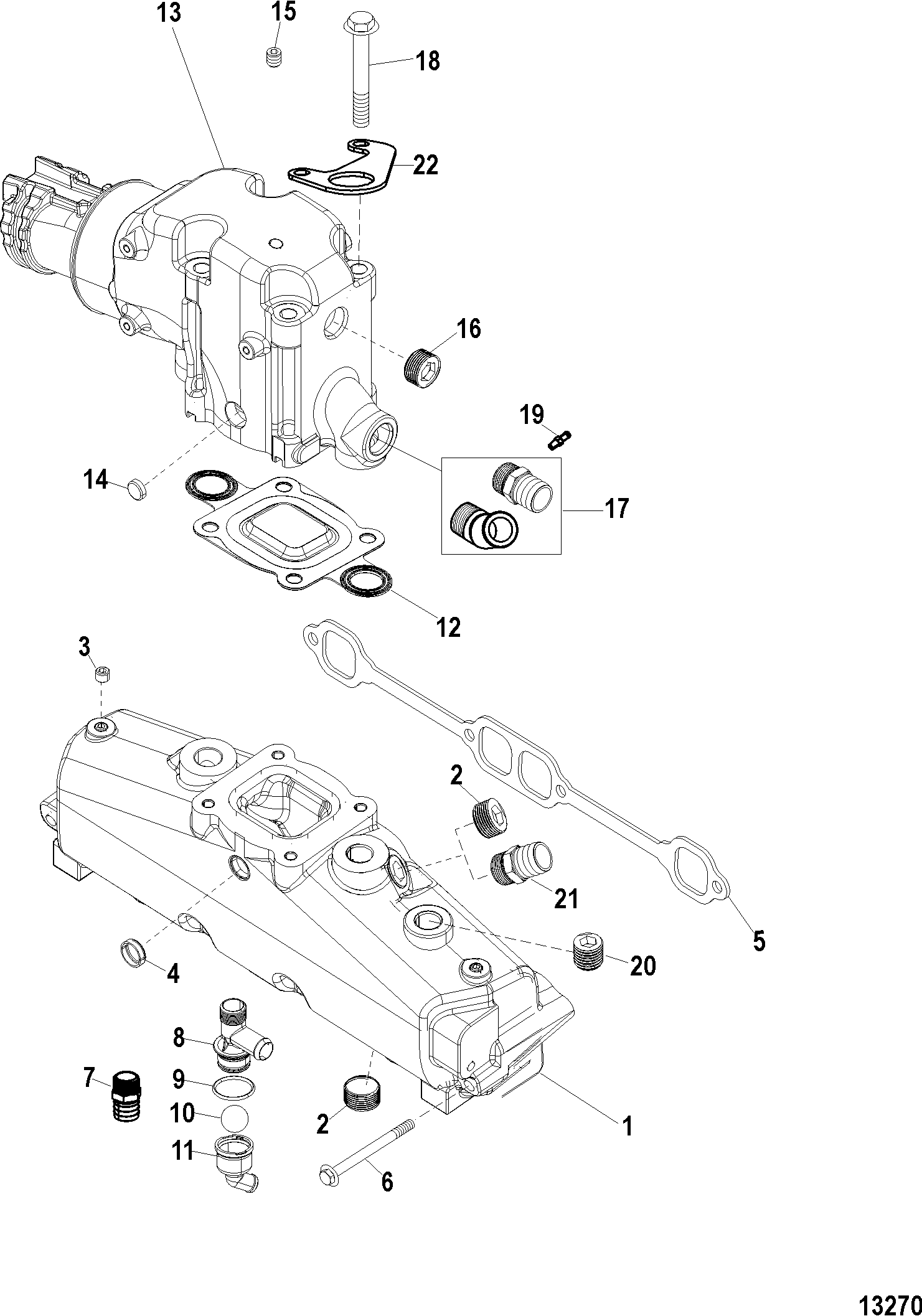 hight resolution of exhaust manifold and elbow