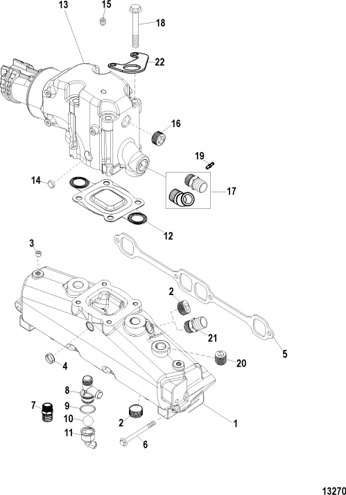 small resolution of exhaust manifold and elbow