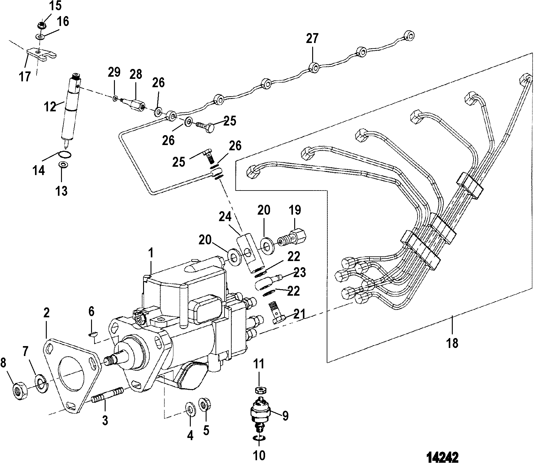 hight resolution of injection pump nozzle and lines
