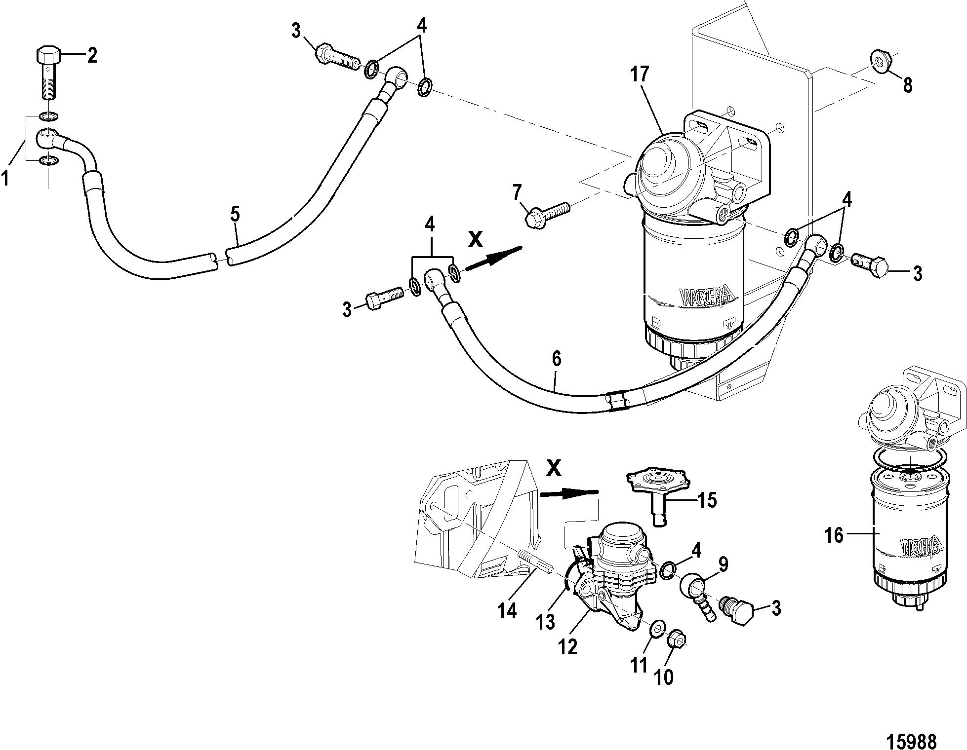 Каталог запчастей MERCRUISER остальные CMD 4.2 EI 270