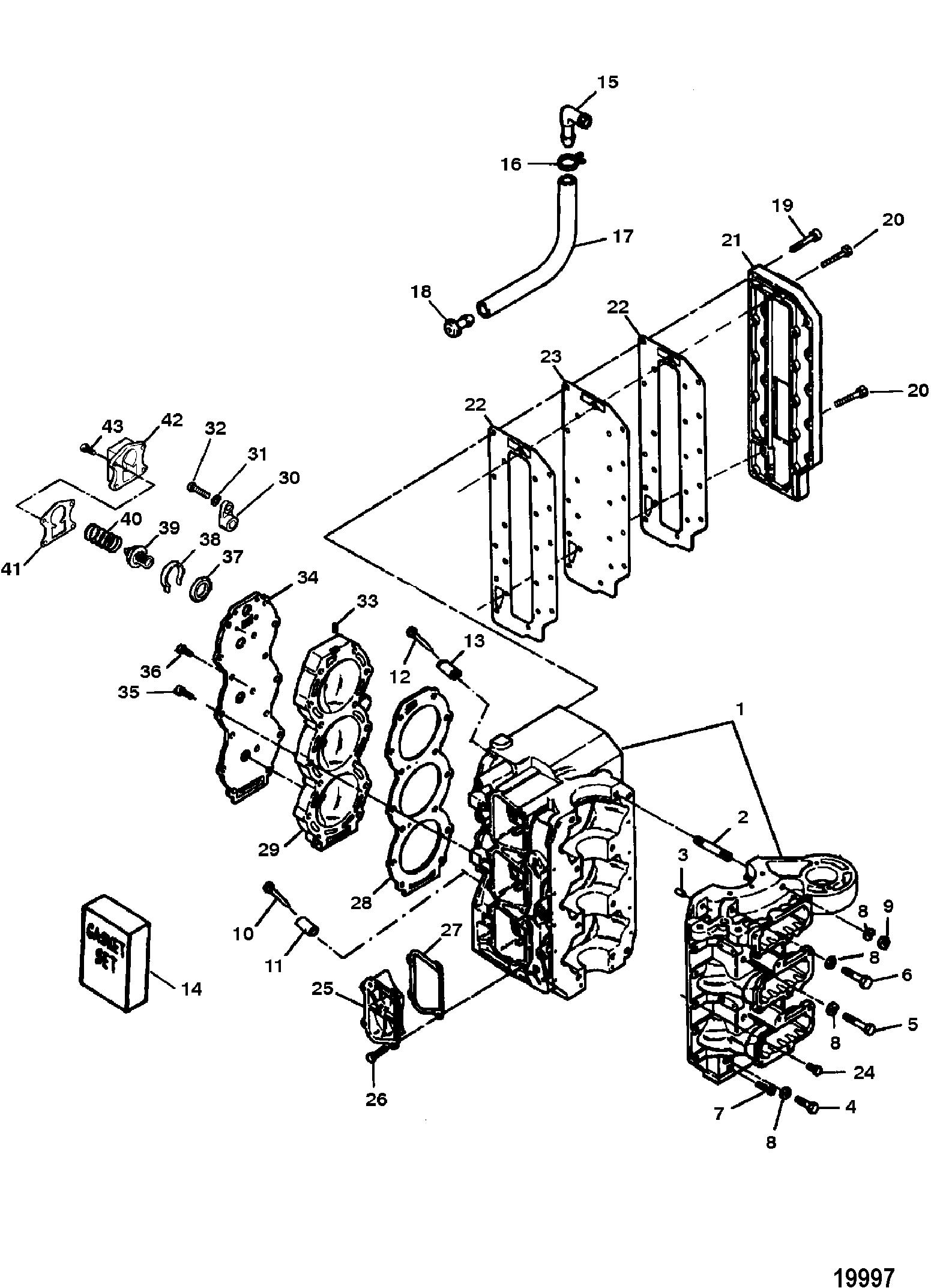 Каталог запчастей FORCE 90 H.P. (1996) 0E138600 THRU