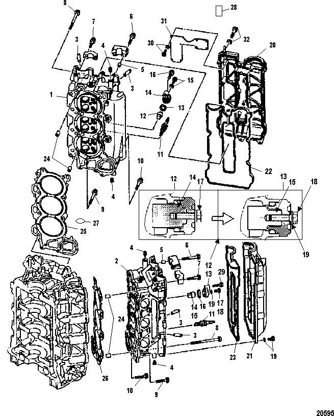 Каталог запчастей MARINER 225 EFI (4-STROKE) 0T653945 & Up