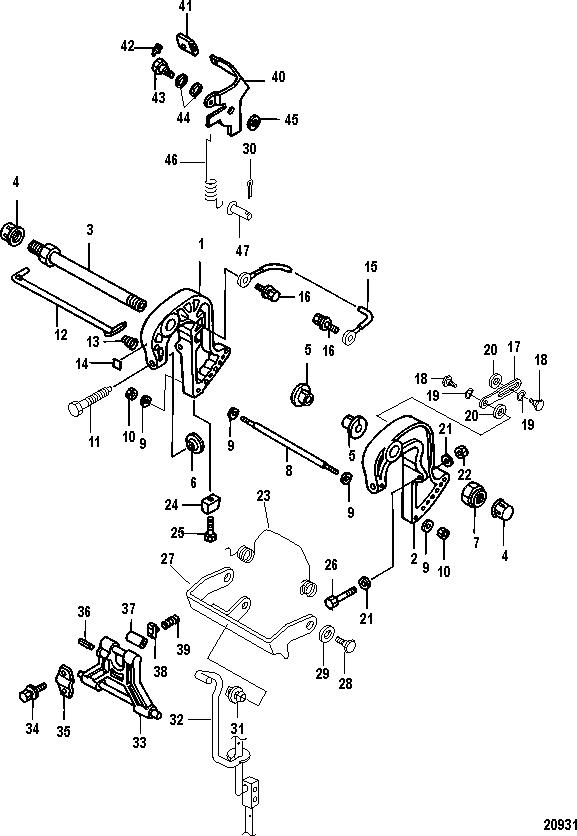 Каталог запчастей MERCURY 4-х тактные 30 EFI (3 CYL.)(4