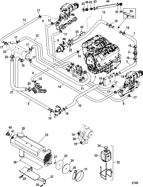 small resolution of mercruiser 4 3l engine diagram wiring diagram used mercruiser 1a063240 up fuel pump and fuel cooler