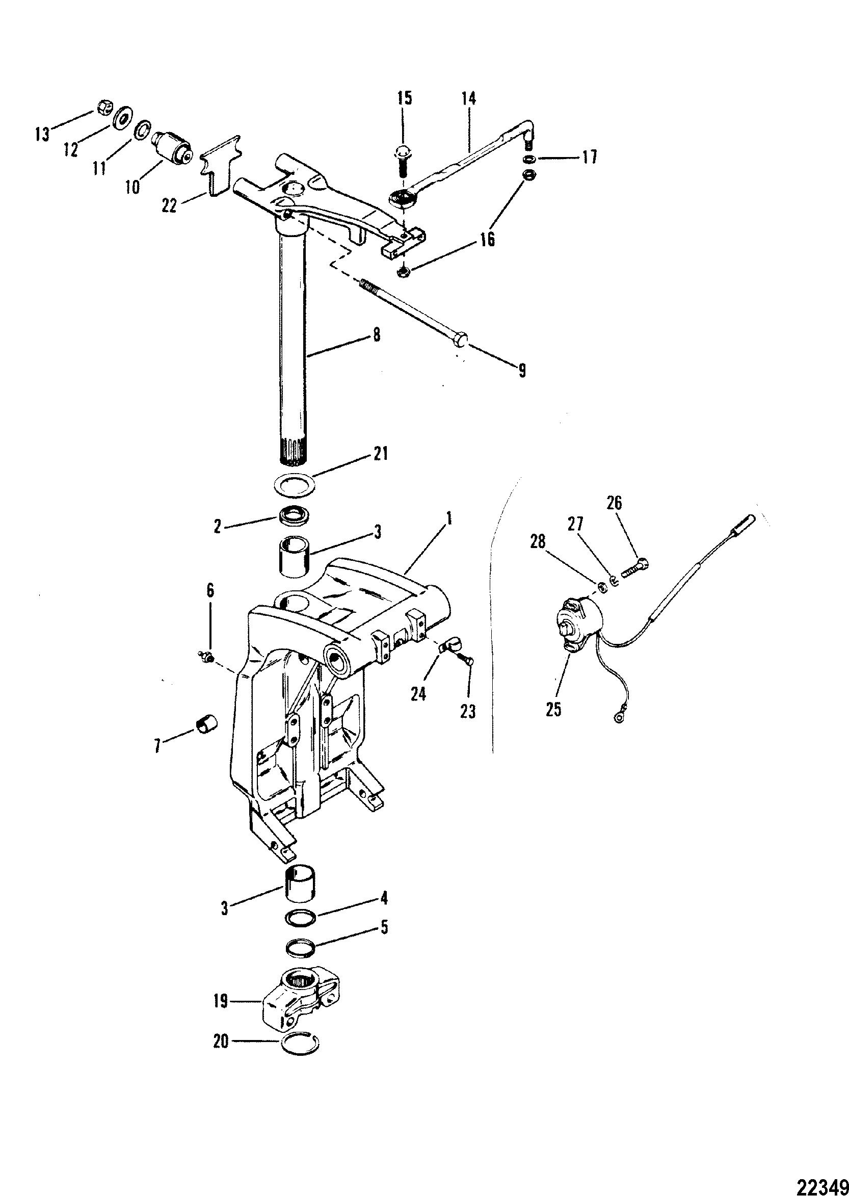 Каталог запчастей MARINER V-175 (MAG/EFI) 0D000750 THRU