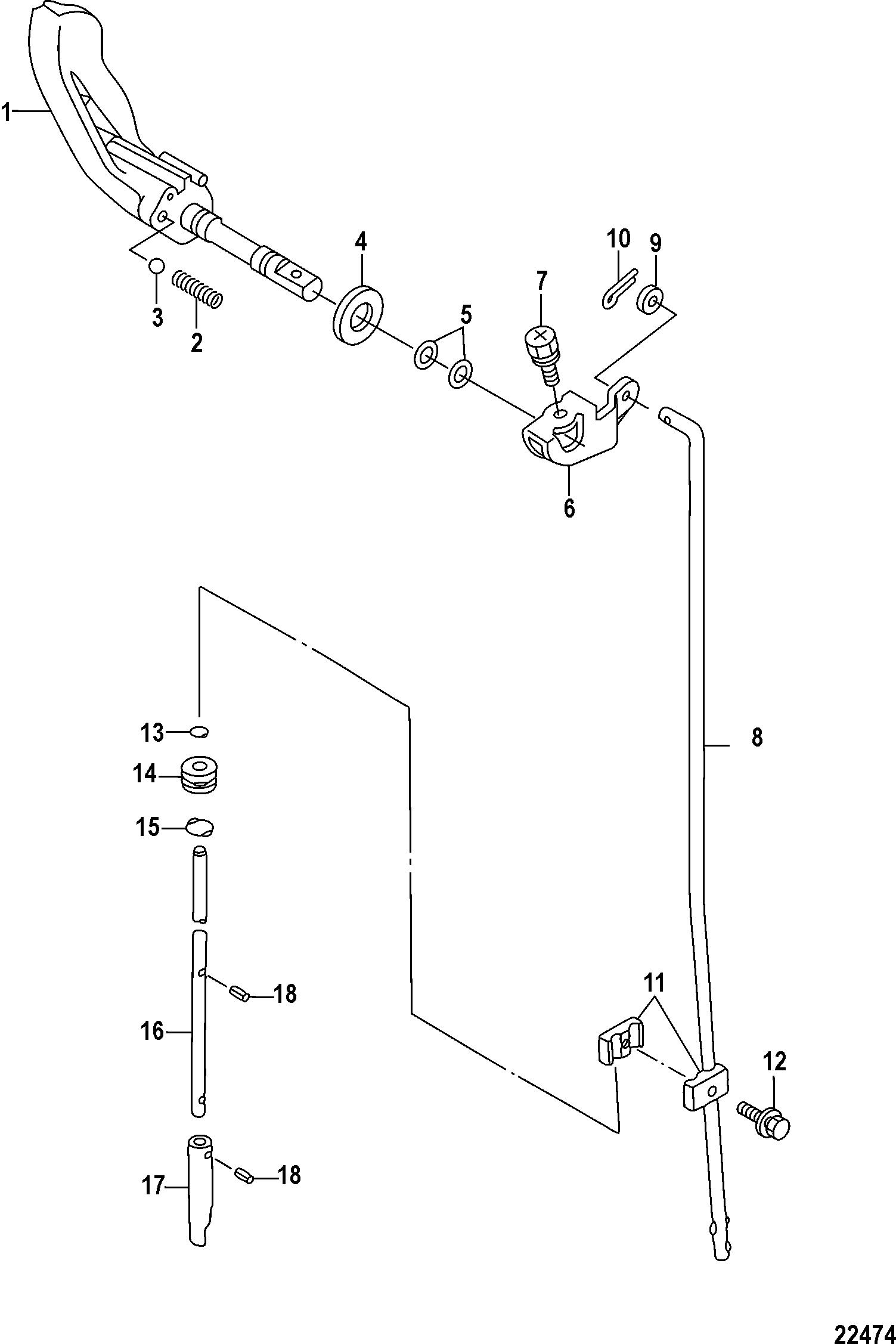Каталог запчастей MARINER 2.5 (4-STROKE) Carb 0R131842