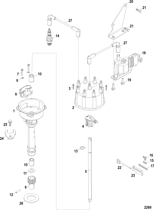 small resolution of distributor and ignition components electrical components